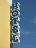 Hotel sign. Blue hotel sign royalty free stock images