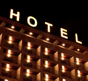 Hotel sign. A Hotel sign in the night Royalty Free Stock Photography