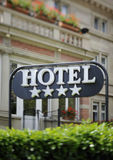 Hotel sign Star Luxury  Royalty Free Stock Image