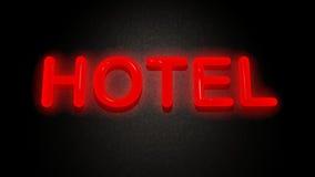 Hotel sign. On black background royalty free illustration