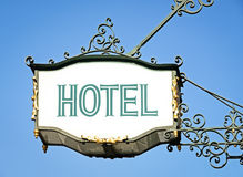 Hotel sign Stock Photos