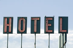Hotel sign. A single hotel sign Royalty Free Stock Images