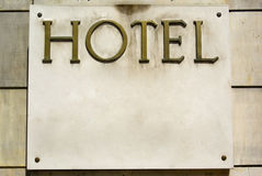 Hotel sign Stock Photography