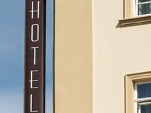 Hotel Sign On Building Royalty Free Stock Images