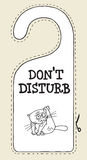 Hotel sign cat do not disturb Stock Photos