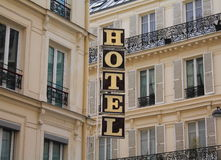 Hotel sign Royalty Free Stock Image