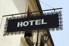 Hotel sign. hotel. sign Stock Photos