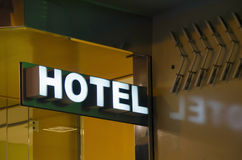 Hotel sign Stock Images