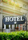 Hotel sign One Star Royalty Free Stock Photo