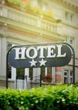 Hotel sign Two Stars Royalty Free Stock Photo