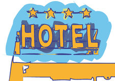 Hotel sign (vector). Four star hotel sign (cmyk to rgb vector illustration
