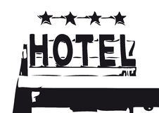 Hotel sign (vector). Four star hotel sign (cmyk to rgb royalty free illustration