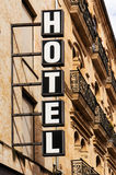Hotel Sign Vertical Royalty Free Stock Photography