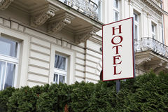 Hotel signboard Stock Photos