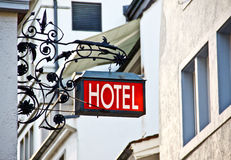 Hotel signboard Royalty Free Stock Photography