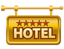 Hotel signboard stock photos