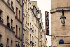 Hotel signboard. On Paris street Stock Images