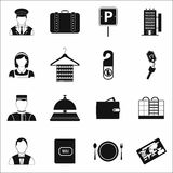 Hotel simple icons set Royalty Free Stock Photography