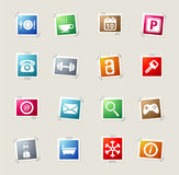 Hotel simply icons Stock Photo