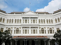 Hotel,Singapore. Raffles Hotel in Singapore City Royalty Free Stock Photo