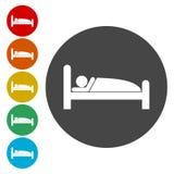 Hotel single icon. Sleeping symbol. Vector illustration vector illustration