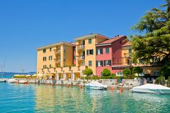 Hotel in Sirmione, Italy Stock Images