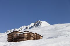 Hotel on ski resort Royalty Free Stock Photography