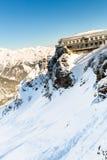 Hotel in ski resort Bad Gastein in winter snowy mountains, Austria, Land Salzburg Stock Image