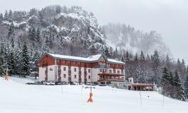 Hotel in ski resort Malino Brdo, Slovakia. Hotel in ski resort Malino Brdo at Slovakia Stock Image
