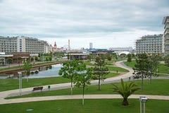 Hotel-Sochi-Park in Adler, Krasnodar-Region, Russland Lizenzfreie Stockbilder