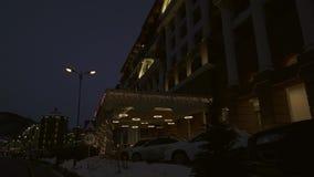 Hotel Sochis Marriott Krasnaya Polyana in Vorratgesamtlänge timelapse Video Gorkys Gorod stock video
