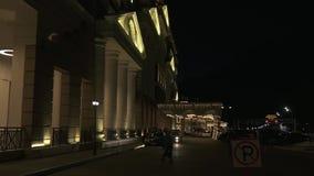 Hotel Sochis Marriott Krasnaya Polyana in Vorratgesamtlänge timelapse Video Gorkys Gorod stock footage