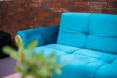 Hotel sofa, Sofa with coffee table, Sofa with table, Hotel lobby table stock photography