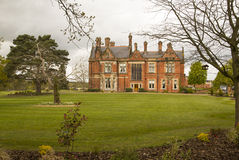 5* Hotel and Spa in Northern England. Picture of Rockliffe Hall in England. Elegant country house converted into luxury Hotel, Spa and Golf course Royalty Free Stock Images