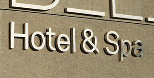 Hotel and spa sign Stock Photography