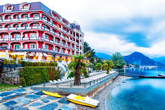 Hotel Splendid Baveno on Lake Maggiore Italy Stock Image
