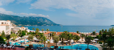Hotel Splendid in Budva, Montenegro. A chic hotel for the rich i Stock Photography