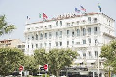 Hotel Splendid in Cannes Stock Photos