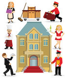 Hotel staff. Illustration of people collection (hotel staff royalty free illustration