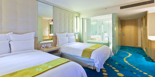 Hotel standard room 2. The two beds standard room in five star hotel Royalty Free Stock Photo