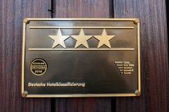 Hotel star rankings deutsche hotelklassificazierung Royalty Free Stock Photo