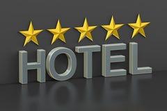 Hotel 5 sterrenconcept, het 3D teruggeven Royalty-vrije Stock Foto's