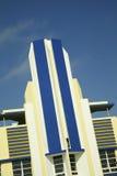 Hotel storico di art deco in spiaggia del sud di Miami Immagine Stock