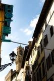 Hotel-Straßen-Szene in Florenz Stockbilder