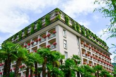 Hotel in Stresa auf Maggiore See, Italien lizenzfreie stockfotos