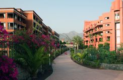 Hotel su Tenerife fotografie stock libere da diritti