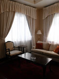 Hotel suite sitting room space stock photography
