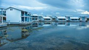 Hotel sulla laguna Immagine Stock