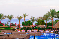Hotel sulla spiaggia Immagini Stock Libere da Diritti