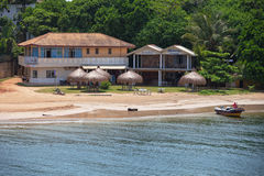 Hotel sulla spiaggia in Asia Immagini Stock